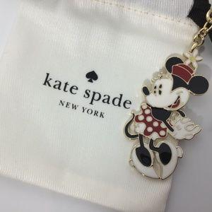 Kate Spade Minnie Mouse Jeweled Key Fob